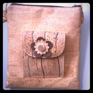 Handbags - Cork Flower Purse, Portugal - Vegan, Sustainable